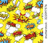 seamless comics background | Shutterstock .eps vector #322097576