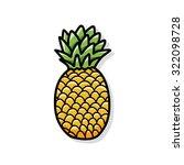 pineapple doodle | Shutterstock .eps vector #322098728