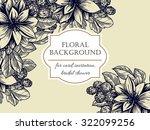 vintage delicate invitation... | Shutterstock .eps vector #322099256