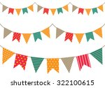 colorful bunting flag | Shutterstock .eps vector #322100615