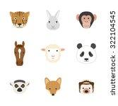 animal face set | Shutterstock .eps vector #322104545