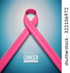 pink ribbon  breast cancer... | Shutterstock .eps vector #322106972