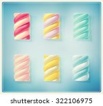 set colorful twisted... | Shutterstock .eps vector #322106975