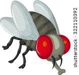 cute little cartoon flies | Shutterstock .eps vector #322110392