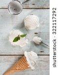 top view vanilla ice cream in... | Shutterstock . vector #322117292