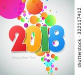 happy new year 2018  greeting... | Shutterstock .eps vector #322117412