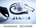 diagnosis   smallpox. medical... | Shutterstock . vector #322118186