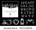 hand drawn vintage halloween... | Shutterstock .eps vector #322118396