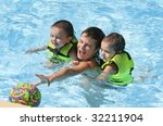 ball game in pool | Shutterstock . vector #32211904