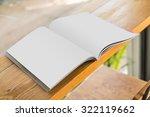 blank catalog  magazines book... | Shutterstock . vector #322119662