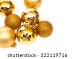 gold christmas balls   Shutterstock . vector #322119716