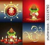 vector set of diwali background ...   Shutterstock .eps vector #322119782
