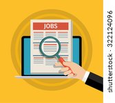 concept of job searching. hand... | Shutterstock .eps vector #322124096