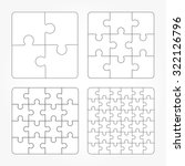 jigsaw puzzle four vector... | Shutterstock .eps vector #322126796