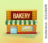 facade bakery shop  beautiful... | Shutterstock .eps vector #322128698