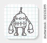 robot doodle | Shutterstock .eps vector #322131395