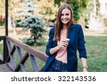 smiling young beautiful girl... | Shutterstock . vector #322143536