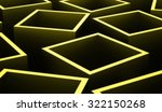 green abstract cubes background ... | Shutterstock . vector #322150268