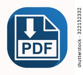 pdf  icon. vector design | Shutterstock .eps vector #322152332