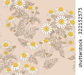 contour image of wild chamomile ... | Shutterstock .eps vector #322152575