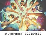 beach cheers celebration... | Shutterstock . vector #322164692