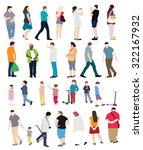 people set vector illustration... | Shutterstock .eps vector #322167932