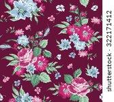vintage floral background  ... | Shutterstock . vector #322171412