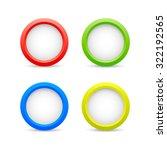 round button icon jpeg. a set... | Shutterstock .eps vector #322192565