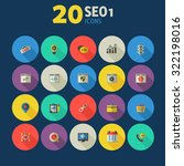 flat detailed colored seo icons ... | Shutterstock .eps vector #322198016