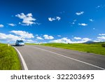 car driving in the road  | Shutterstock . vector #322203695