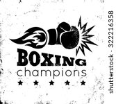 vintage logo for a boxing on... | Shutterstock .eps vector #322216358