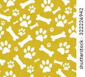 yellow and white dog paw prints ... | Shutterstock . vector #322226942