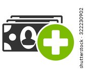 medical expenses vector icon.... | Shutterstock .eps vector #322230902