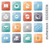 email white icons on color... | Shutterstock .eps vector #322233236