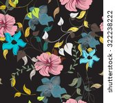 seamless floral pattern.... | Shutterstock .eps vector #322238222