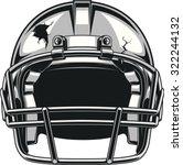 helmet for playing football | Shutterstock .eps vector #322244132