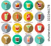 alcohol drinks and cocktails...   Shutterstock .eps vector #322246178