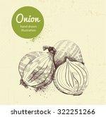 onion vector illustration | Shutterstock .eps vector #322251266