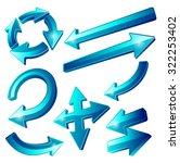 ultra dynamic 3d glossy blue... | Shutterstock . vector #322253402