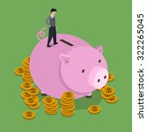 saving money concept in 3d... | Shutterstock .eps vector #322265045
