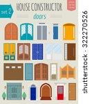 big set city generator. house... | Shutterstock .eps vector #322270526