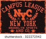 campus league t shirt design | Shutterstock .eps vector #322272542