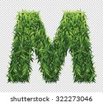 alphabet m of green grass. a... | Shutterstock .eps vector #322273046