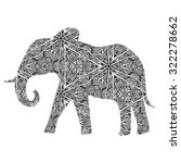 hand drawn elephant isolated on ... | Shutterstock .eps vector #322278662