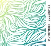 vector color hand drawing wave... | Shutterstock .eps vector #322280486