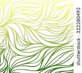 vector color hand drawing wave... | Shutterstock .eps vector #322280492