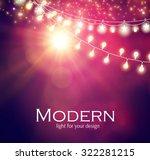 light garlands   flash light on ... | Shutterstock .eps vector #322281215