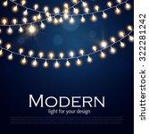 light garlands on dark... | Shutterstock .eps vector #322281242