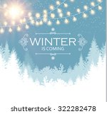 christmas card. winter... | Shutterstock .eps vector #322282478