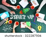 people hands with illustrations ... | Shutterstock . vector #322287506